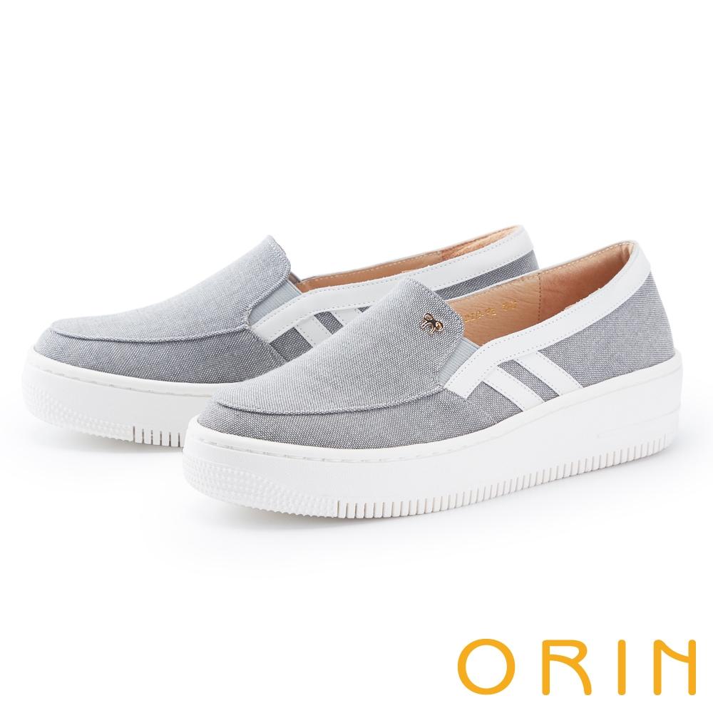 ORIN 牛仔布面厚底 女 休閒鞋 灰色