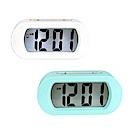 (2入組)NAKAY 北歐風數字電子鐘/鬧鐘(TD-385)LCD背光