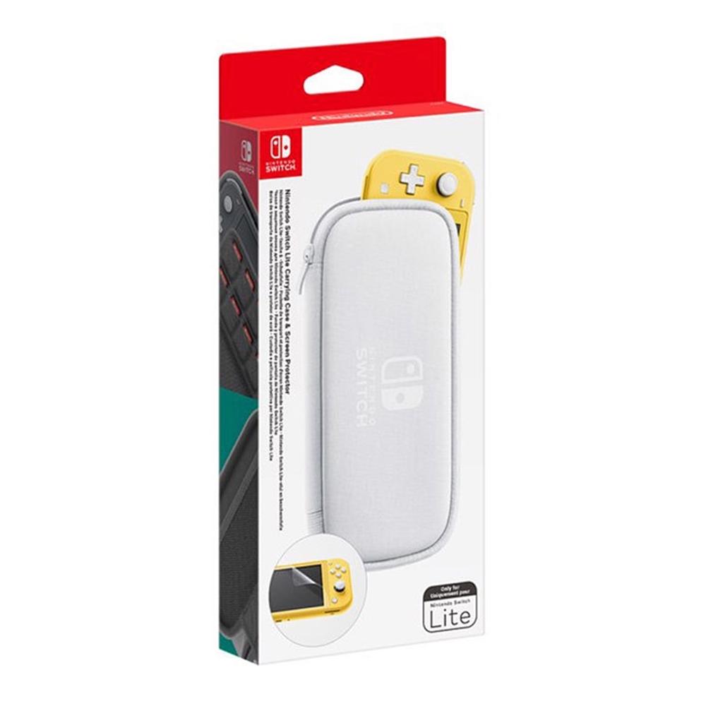任天堂 Nintendo Switch Lite 主機收納包 含保護貼(白)