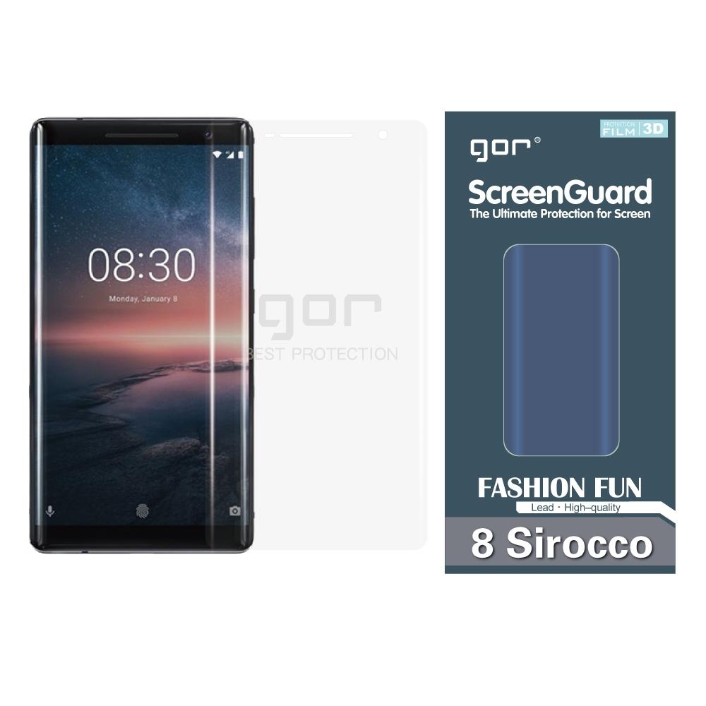 GOR Nokia 8 Sirocco 滿版保護貼 諾基亞 8sirocco 透明 PET