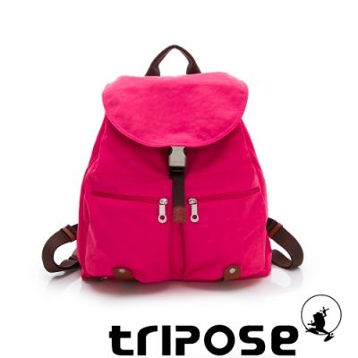 tripose MEMENTO經典復刻微皺尼龍經典輕量後背包 俏桃紅