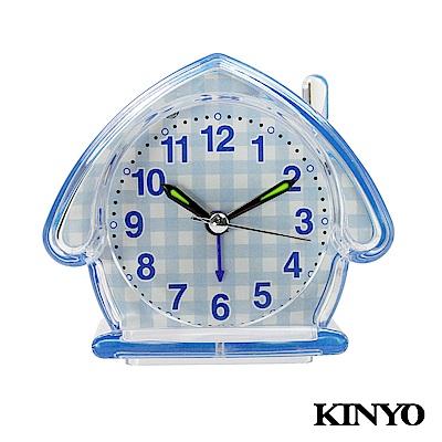 KINYO房屋造型靜音掃描鬧鐘TB710