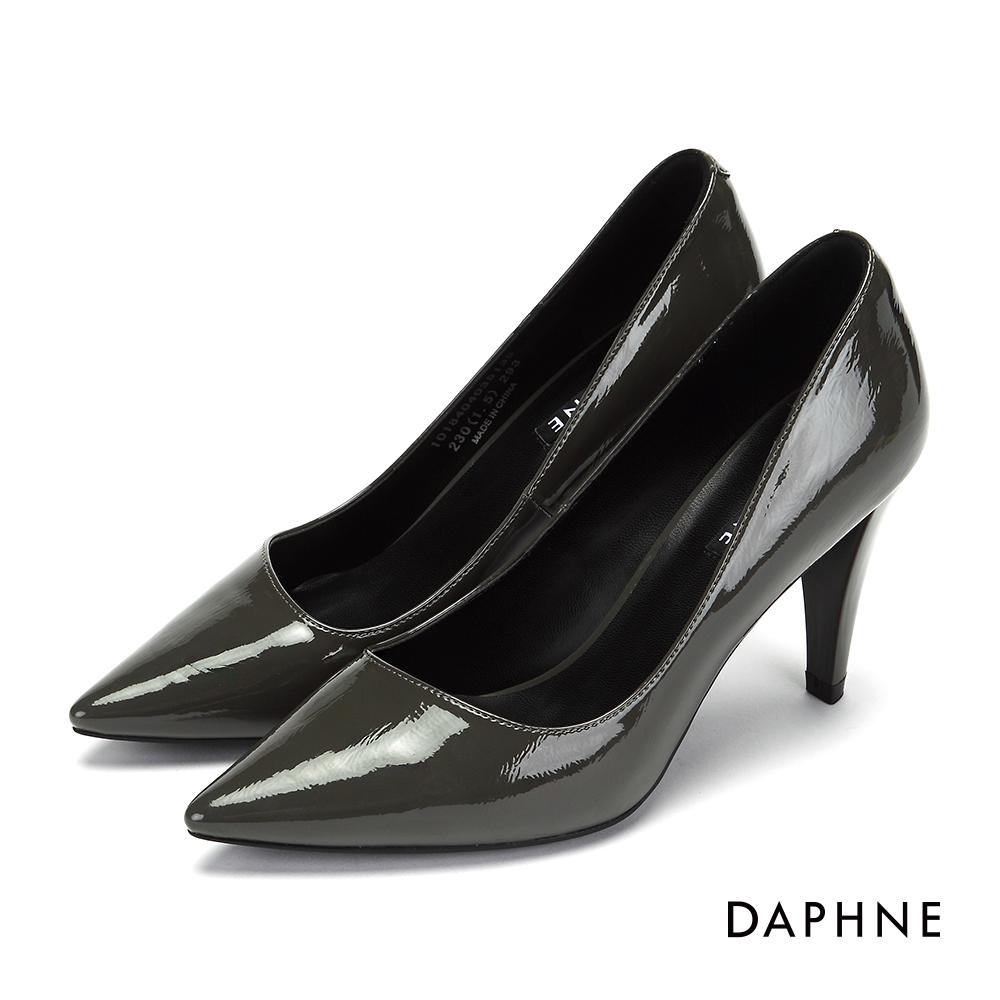 達芙妮DAPHNE 高跟鞋-素面時尚錐型跟晚宴高跟鞋-灰