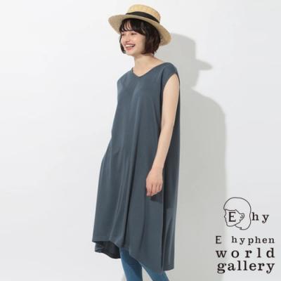 E hyphen V領A字連衣裙