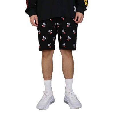 NBA Style WOVEN PANTS 滿版 休閒短褲 公牛隊
