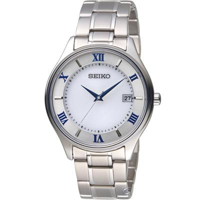 SEIKO精工SPIRIT簡約羅馬太陽能鈦金屬腕錶(SBPX113J)