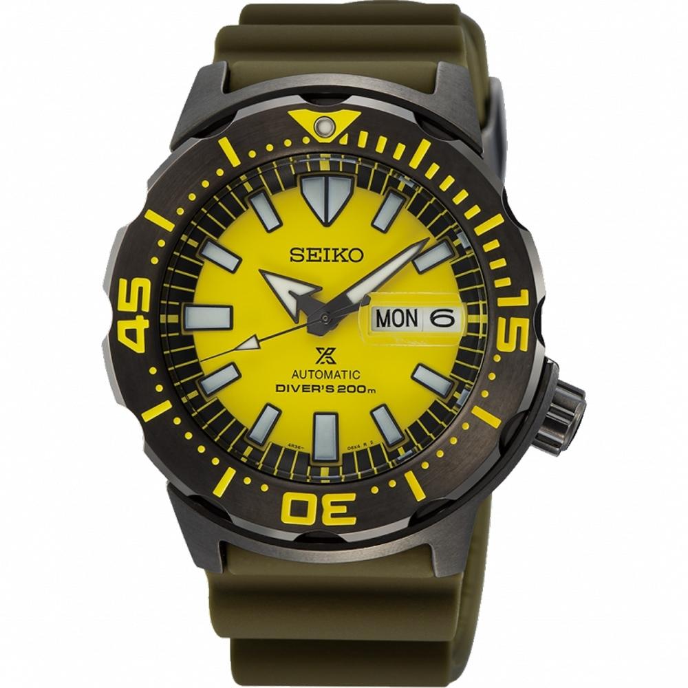 SEIKO精工 PROSPEX 時尚潮流潛水機械錶(SRPF35K1/4R36-08B0Y)-42.4mm