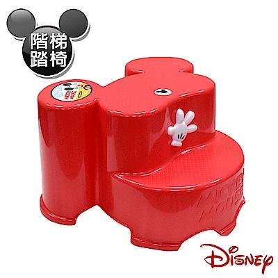 Disney 米奇大頭造型日本製 防滑兒童椅 階梯椅 踩腳椅 防滑矮凳(全年齡適用)-紅