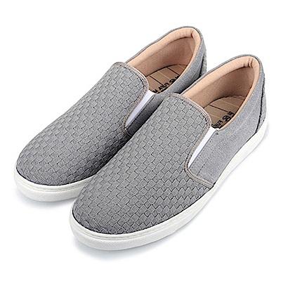 BuyGlasses 交織造型男款懶人鞋-灰