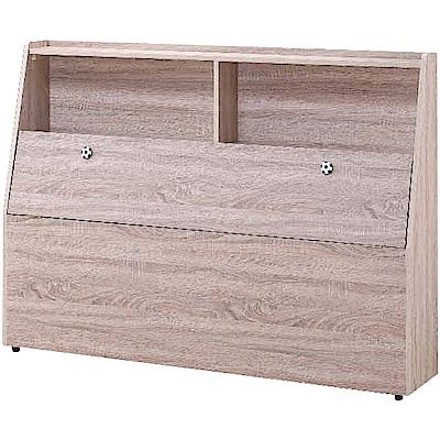 綠活居 唐斯時尚3.5尺木紋單人床頭箱(不含床底)-106x30x106cm免組