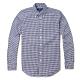 Polo Ralph Lauren 經典刺繡小馬長袖襯衫-深藍白格紋色 product thumbnail 1