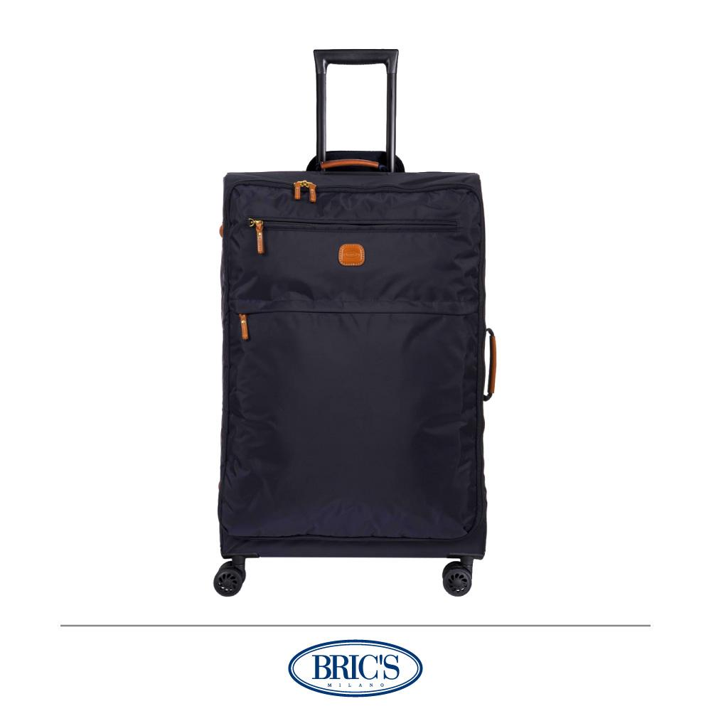BRICS 義大利 25吋 超輕量 小牛皮防水布箱 深藍色