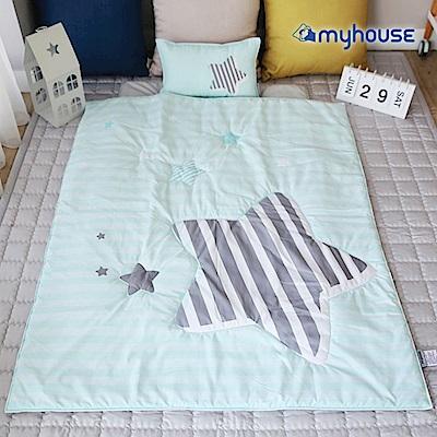【BabyTiger虎兒寶】Myhouse  韓國防蟎兒童睡袋 - 流星藍