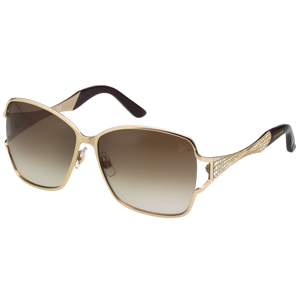 SWAROVSKI 金屬水鑽 太陽眼鏡-金色-SW64