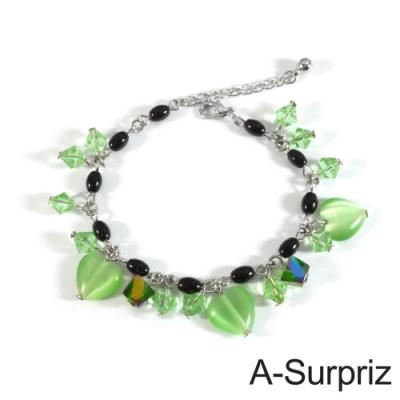 A-Surpriz 甜蜜心戀串珠手鍊(綠)