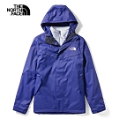 The North Face北面男款藍色防水透氣戶外三合一外套|46JLL62