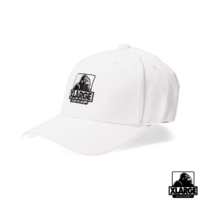 XLARGE EMBROIDERY OG 6PANEL CAP刺繡LOGO棒球帽-白