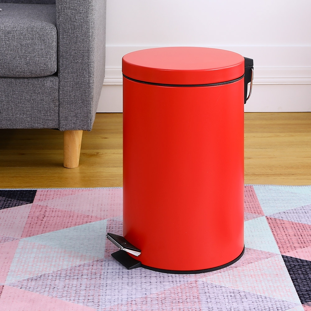 Amos-質感柔光烤漆12L踩踏垃圾桶