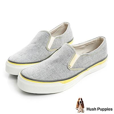 Hush Puppies 羊毛氈咖啡紗中性懶人鞋-灰色