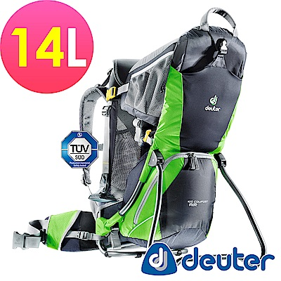 ATUNAS歐都納德國DEUTER行動嬰兒背架背包14L 36504灰綠