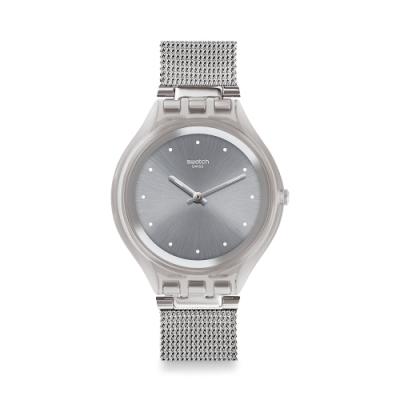 Swatch SKIN 超薄系列手錶 SKINSPARKLY 超薄-迸發銀-40mm