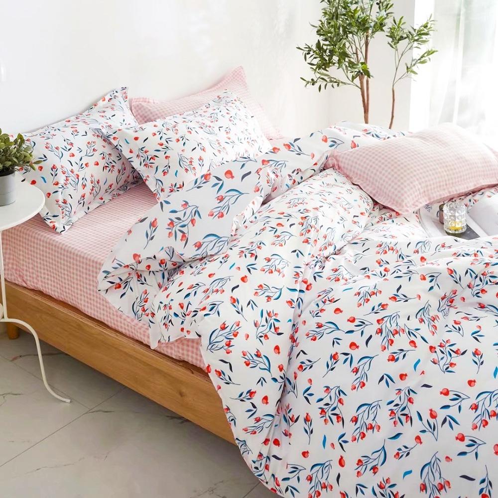 A-ONE 雪紡棉 單人床包/枕套 二件組-長壽花語