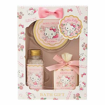 Sanrio HELLO KITTY香氛保濕沐浴品禮盒 3 件組(百花香)