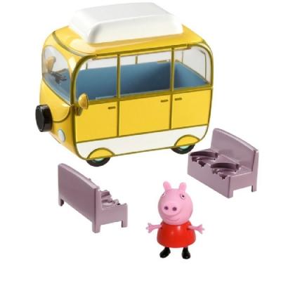 粉紅豬小妹 交通工具組系列- 露營車 內含佩佩豬公仔 PEPPA PIG