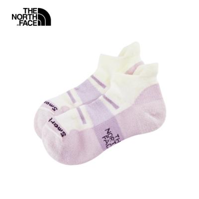 The North Face北面男女款粉紫色美麗諾羊毛運動短襪|3CNNKD7