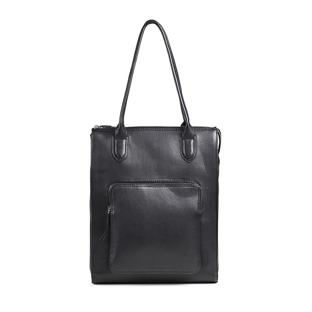 MARKBERG Asma 丹麥手工牛皮阿斯瑪個性托特包 肩背包/手提包(極簡黑) @ Y!購物