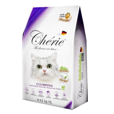 德國Cherie法麗有機凝結杉木貓砂 4.3kg/10L