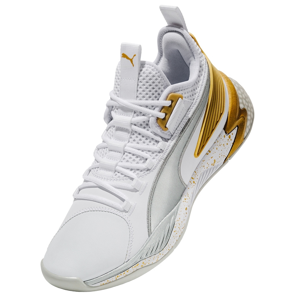 PUMA-Uproar Hybrid Court Core 復古籃球鞋-白色
