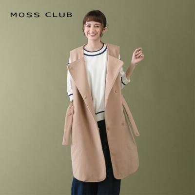 【MOSS CLUB】質感挺版背心-外套(卡色)