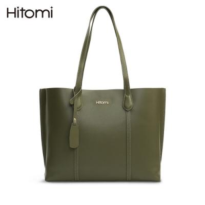 【Hitomi】知性莫蘭迪肩背/大托特包(莫蘭迪綠色12204GN)