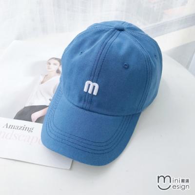 Mini嚴選- mini m標誌簡約百搭棒球帽