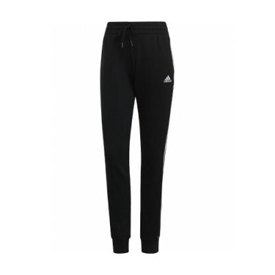 adidas 長褲 French Terry Pants 女款 愛迪達 三線 運動休閒 基本款 口袋 黑 白 GM8733