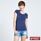 5th STREET 涼感素色 短袖T恤-女-丈青