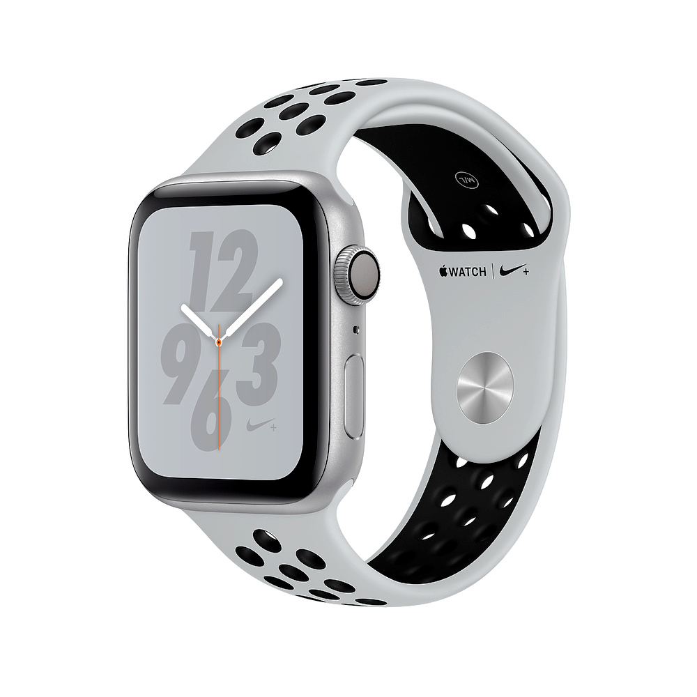 Apple Nike+S4 LTE 40mm銀色鋁金屬PurePlatinum黑色運動錶帶 @ Y!購物
