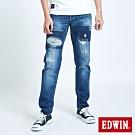 EDWIN BLUE TRIP 拼貼破壞AB牛仔褲-男-中古藍
