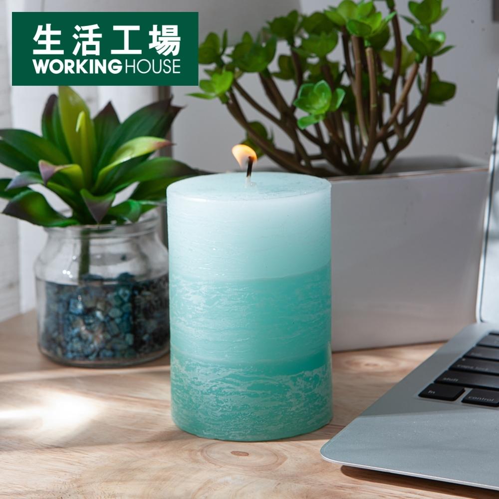 【週年慶全館8折起-生活工場】微風海浪漸層4吋蠟燭