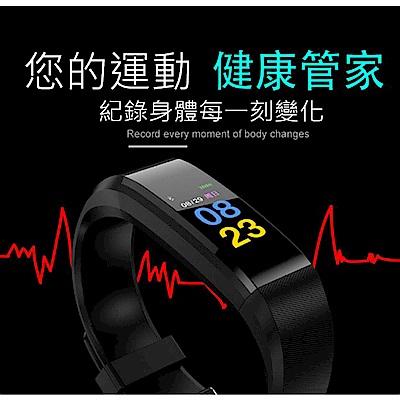 美國熊 彩色螢幕 測量血壓心率計步 里程 智慧手環