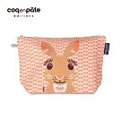 【COQENPATE】法國有機棉無毒環保布包 / 大大水堅包 -兔子