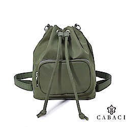 CABACI 經典素色斜背後背二用水桶包