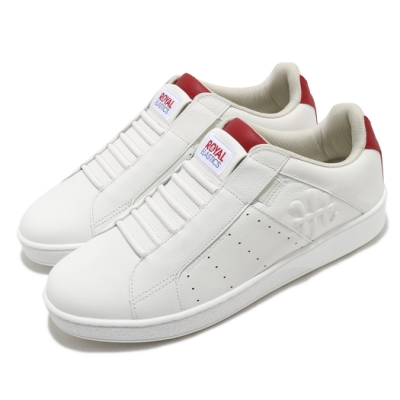 Royal Elastics 休閒鞋 Icon Genesis 套腳 男鞋 輕便 舒適 皮革 簡約 質感 易穿脫 白 紅 01902001