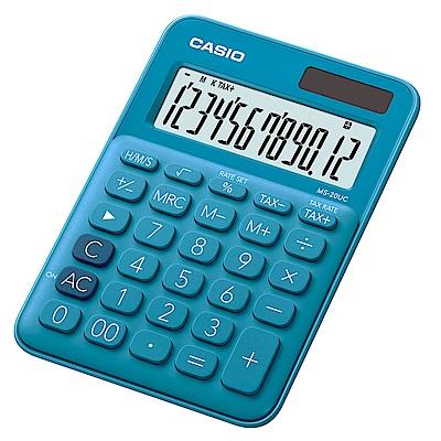 CASIO 12位元甜美馬卡龍色系攜帶型計算機(MS-20UC-BU)俏藍莓