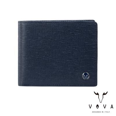 VOVA - 大藝術家系列9卡中間翻皮夾 - 奇幻藍