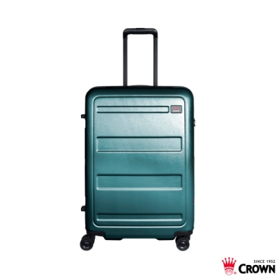 CROWN 皇冠 26吋拉鍊箱 雙層防盜拉鍊 墨綠