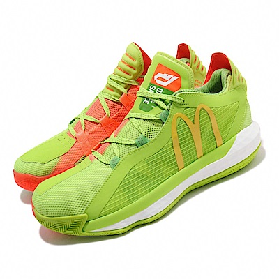 adidas 籃球鞋 Dame 6 GCA 麥當勞 男鞋 愛迪達 糖醋醬 避震 雙色 鴛鴦 綠 橘 FX3334