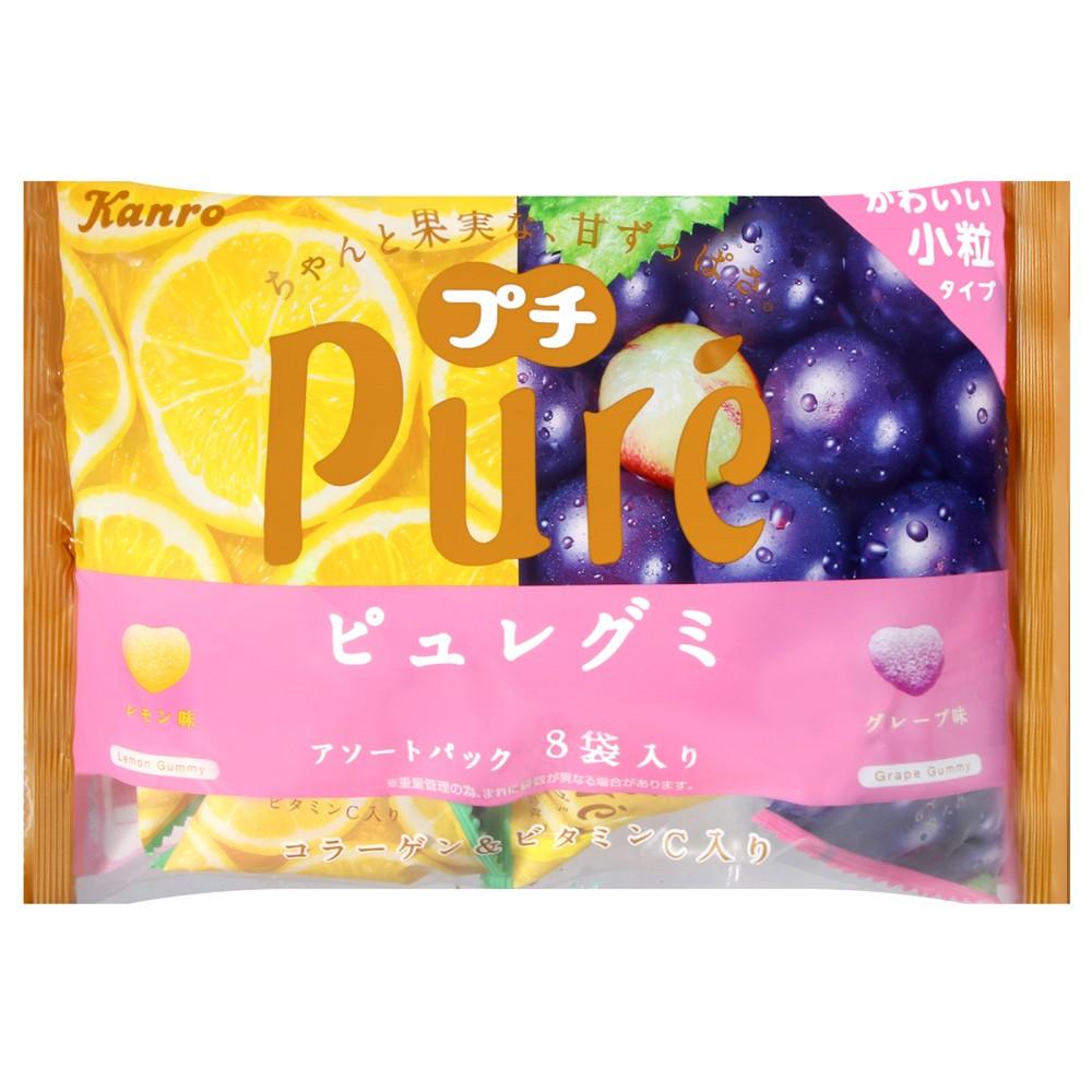 Kanro Pure軟糖綜合包[檸檬&葡萄](118g)