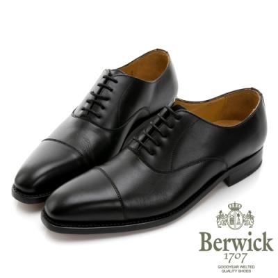 BERWICK西班牙進口-固特異工藝橫飾縫線牛津鞋 -黑 635033KM